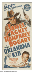 "Movie Posters:Western, The Oklahoma Kid (Warner Brothers, 1939). Australian Daybill (13.5"" X 30""). Usually, when Humphrey Bogart angered Jack Warne..."