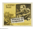 """Movie Posters:War, Passage to Marseille (Warner Brothers, R-1956). Half Sheet (22"""" X28""""). As French bomber crews prepare an air raid from a ba..."""