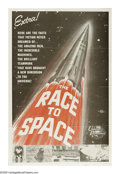 "Movie Posters:Documentary, The Race to Space (Universal International, 1962). One Sheet (27"" X 41""). Documentary featuring rare footage of early U.S. a..."