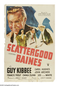 """Scattergood Baines (RKO, 1941). One Sheet (27"""" X 41""""). The character of Scattergood was created by Clarence Bu..."""