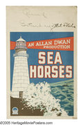 """Movie Posters:Drama, Sea Horses (Paramount, 1926). Window Card (14"""" X 22""""). Silent romance featuring Florence Vidor and William Powell. This wind..."""