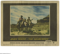 """The Searchers (Warner Brothers, 1956). Lobby Card (11"""" X 14""""). John Ford's classic of the American cinema, sta..."""