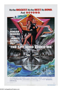 "The Spy Who Loved Me (United Artists, 1976). One Sheet (27"" X 41""). Agent 007 must work with his female Soviet..."