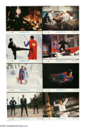 """Movie Posters:Fantasy, Superman II (Warner Brothers, 1980). Lobby Card Set of 8 (11"""" X14""""). Superman agrees to sacrifice his powers to marry Lois,...(Total: 8 Items)"""