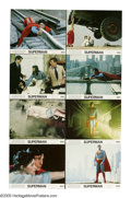 "Movie Posters:Fantasy, Superman (Warner Brothers, 1978). Mini Lobby Card Set of 8 (11"" X14""). Christopher Reeves gave a memorable performance as t...(Total: 8 Items)"