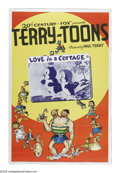 "Movie Posters:Animated, Terry-Toons Stock Poster (20th Century Fox, 1940). One Sheet (27"" X41""). Paul Terry had been producing animated shorts sinc..."