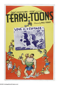 """Terry-Toons Stock Poster (20th Century Fox, 1940). One Sheet (27"""" X 41""""). Paul Terry had been producing animat..."""