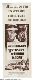 """Movie Posters:Drama, Treasure of the Sierra Madre (Warner Brothers, R-1953). Insert (14""""X 36""""). """"I know what gold does to men's souls."""" Writer-D..."""
