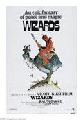 "Movie Posters:Animated, Wizards (Twentieth Century Fox, 1977). One Sheet (27"" X 41""). Ralph Bakshi's animated fantasy epic. Minor dust shadowing, mi..."