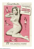 "Movie Posters:Short Subject, The World's Most Beautiful Girls (Universal, 1950). One Sheet (27""X 41""). Rare Universal poster for a short subject dealing..."