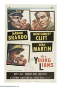 "Movie Posters:War, The Young Lions (20th Century Fox, 1958). One Sheet (27"" X 41"").Three soldiers in WWII deal with the emotions and conflicts..."