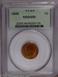 1898 1C MS64 Red and Brown PCGS. PCGS Population (173/29). NGC Census: (144/119). Mintage: 49,823,080. Numismedia Wsl. P...