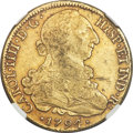 Chile, Chile: Charles IV gold 8 Escudos 1794 So-DA XF Details(Counter-Stamp) NGC,...