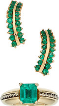 Estate Jewelry:Lots, Emerald, Gold Jewelry. ... (Total: 2 Items)