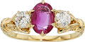 Estate Jewelry:Rings, Burma Pink Sapphire, Diamond, Gold Ring. ...