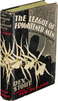 Books:Mystery & Detective Fiction, Rex Stout. The League of Frightened Men. New York: Farrar& Rinehart, Inc., [1935]. First edition....
