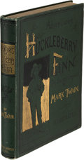 Books:Literature Pre-1900, Mark Twain. Adventures of Huckleberry Finn. New York: Charles L. Webster and Company, 1885. First U. S. edition, ear...