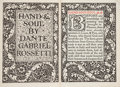 Books:Literature Pre-1900, Dante Gabriel Rossetti. Hand & Soul. [Hammersmith:Kelmscott Press, 1895]. First Kelmscott edition, U. S. issue,...
