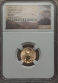 Modern Bullion Coins, 2015 $5 Tenth-Ounce Gold Eagle, First Strike MS70 NGC. NGC Census: (0). PCGS Population: (136)....