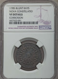 Colonials, 1785 C NOVA Nova Constellation Copper, Blunt Rays -- Corrosion -- Details NGC. VF. NGC Census: (2/20). PCGS Population: (4/...