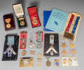 General Americana: , An Assorted Group of Medals and Badges, 19th-20th centuries. Marks:(various). (various dimensions). Property from the Est...