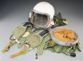 Decorative Arts, Continental:Other , A Soviet High-Altitude GSH-6 Pressure Flight Helmet Kit withOriginal Storage Drum, circa 1967. Marks: (various). 14-1/2 inc...