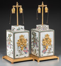 Asian:Chinese, A Pair of Chinese Enameled Porcelain Jars Mounted as Table Lamps.26 inches high (66.0 cm) (overall). ... (Total: 2 Items)