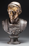 Other, A Large Bronze Bust of Julius Caesar. 24-1/2 inches high (62.2 cm). ...