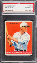 Baseball Cards:Singles (1930-1939), 1933 Goudey Andy High #182 PSA NM-MT 8....