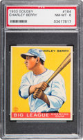 Baseball Cards:Singles (1930-1939), 1933 Goudey Charley Berry #184 PSA NM-MT 8 - Only One Higher....