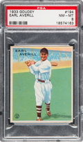 Baseball Cards:Singles (1930-1939), 1933 Goudey Earl Averill #194 PSA NM-MT 8....