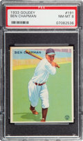 Baseball Cards:Singles (1930-1939), 1933 Goudey Ben Chapman #191 PSA NM-MT 8 - None Higher....
