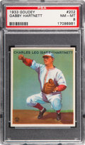 Baseball Cards:Singles (1930-1939), 1933 Goudey Gabby Hartnett #202 PSA NM-MT 8....