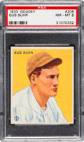 Baseball Cards:Singles (1930-1939), 1933 Goudey Gus Suhr #206 PSA NM-MT 8....