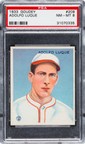 Baseball Cards:Singles (1930-1939), 1933 Goudey Adolfo Luque #209 PSA NM-MT 8....