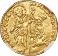 Italy:Venice, Italy: Venice. Michele Steno (1400-1413) gold Ducat ND MS66 NGC,...