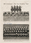 Football Collectibles:Photos, 1949 Four Horsemen of Notre Dame Multi-Signed Photograph Sheet (Autographed by Miller, Crowley, Stuhldreher, etc)....