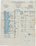 Football Collectibles:Others, 1930 Knute Rockne Signed Notre Dame Letterhead....