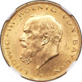 German States:Bavaria, German States: Bavaria. Ludwig III gold 20 Mark 1914-D MS64 NGC,...