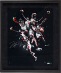 Basketball Collectibles:Photos, 2008 Michael Jordan Signed Oversized UDA Photograph Collage....