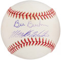 Autographs:Baseballs, Bill Buckner and Mookie Wilson Signed Baseball....
