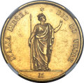 Italy:Lombardy-Venetia, Italy: Lombardy-Venetia. Revolutionary Provisional Government gold40 Lire 1848-M MS61 NGC,...
