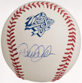 Autographs:Baseballs, 1999 World Series Derek Jeter Single Signed Baseball. ...