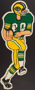 Football Collectibles:Others, Vintage Green Bay Packers Felt Figure Pennant....
