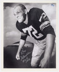 "Football Collectibles:Photos, Ray Nitschke ""First Day as a Pro"" Signed Photograph - Numbered 32/72...."