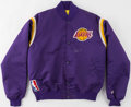 Baseball Collectibles:Others, Magic Johnson Signed Los Angeles Lakers Jacket....