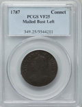 Colonials, 1787 CONNCT Connecticut Copper, Mailed Bust Left VF25 PCGS. PCGS Population: (9/49). NGC Census: (14/57). ...