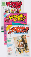 Magazines:Humor, Howard the Duck #1-9 Complete Run White Mountain Pedigree Group of21 (Marvel, 1979-81) Condition: Average FN/VF.... (Total: 21 ComicBooks)