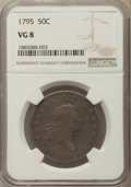 Early Half Dollars, 1795 50C 2 Leaves, O-102, T-26, R.4, VG8 NGC....
