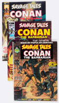 Magazines:Adventure, Savage Tales Group of 6 (Marvel, 1973-75) Condition: Average VF+.... (Total: 6 Comic Books)